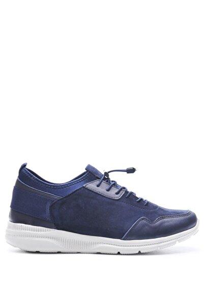 Bulldozer 201771 Lacıvert Beyaz Erkek Comfort Derı Ayakkabı