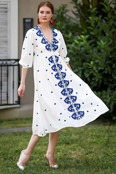 Chiccy Bohem Nakışlı Dokuma Elbise
