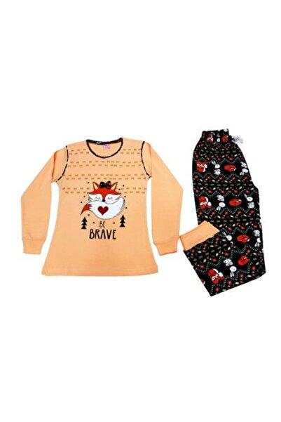 Tarık Tilki Baskılı Kız Çocuk Pjama Takımı 4-5-6-7-8-9-10-11 Yaş %100 Pamuklu Penye