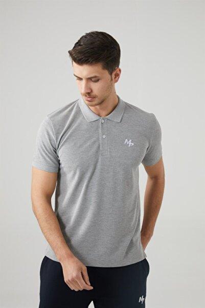 MP Erkek Polo Yaka Gri T-shirt Tekstil 201-5005mr 550