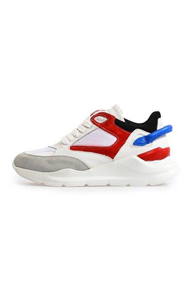 Flower Beyaz Yüksek Tabanlı Spor Ayakkabı