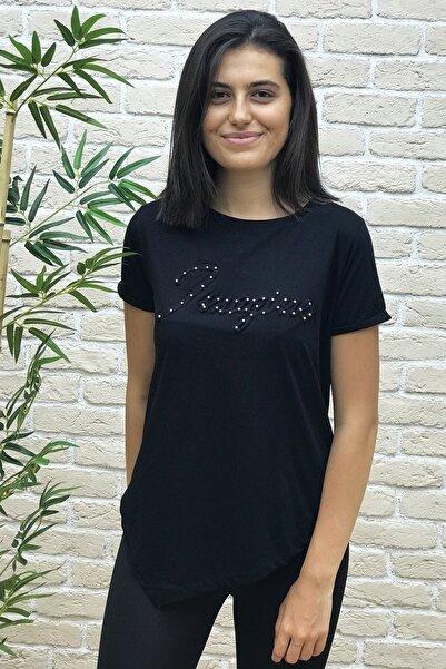 BEBE PLUS Kadın Boncuk Işlemeli Kabartma T-shirt 22671