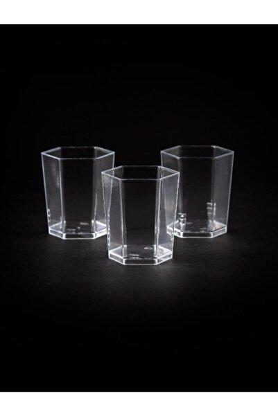 Kristal Plastik Altıgen Kap 50cc - 60 Adet (1 Paket)