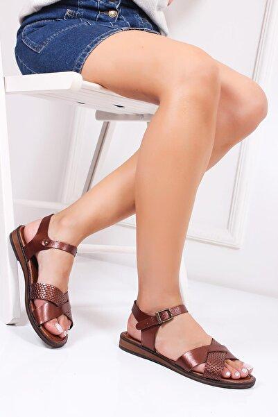 Deripabuc Hakiki Deri Twinkle-3 Kadın Deri Sandalet Dp-0079