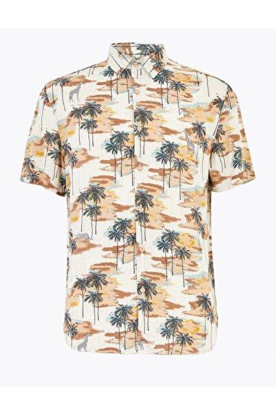 Marks & Spencer Hawaiian Kısa Kollu Gömlek