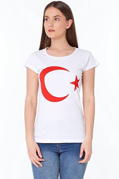 Fulla Moda Türk Bayraklı Tshirt