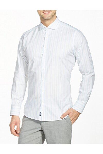 Bisse Regular Fit Çizgili Italyan Yaka Gömlek