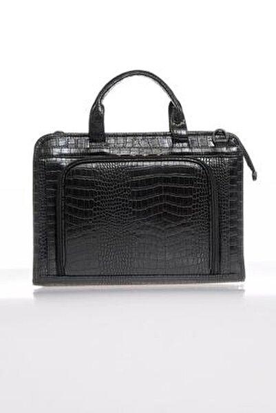 Luxury Sg071219 Kroko/siyah Unisex Evrak Çantası
