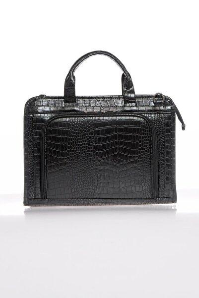 Sergio Giorgianni Luxury Sg071219 Kroko/siyah Unisex Evrak Çantası
