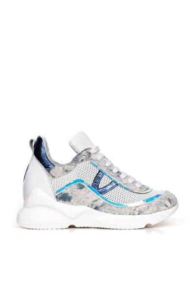 BUENO Shoes Hakiki Deri File Detaylı Bağcıklı Kadın Spor Ayakkabı 20wq1802