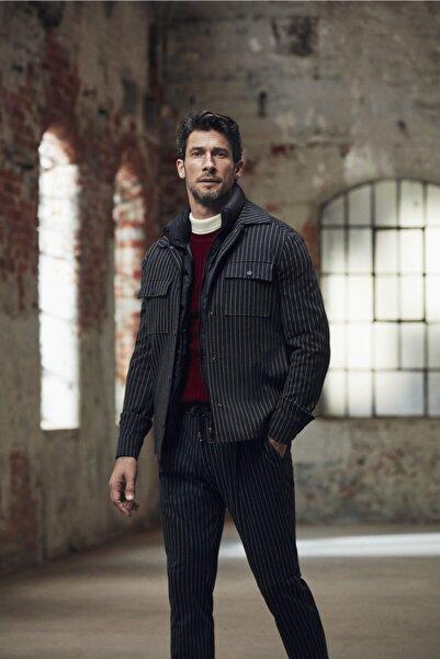 Dufy Erkek Antrasit Çizgili Ceket