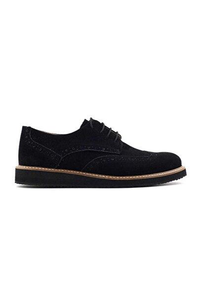 Minican 566 Erkek Genç Ayakkabı-siyah Süet