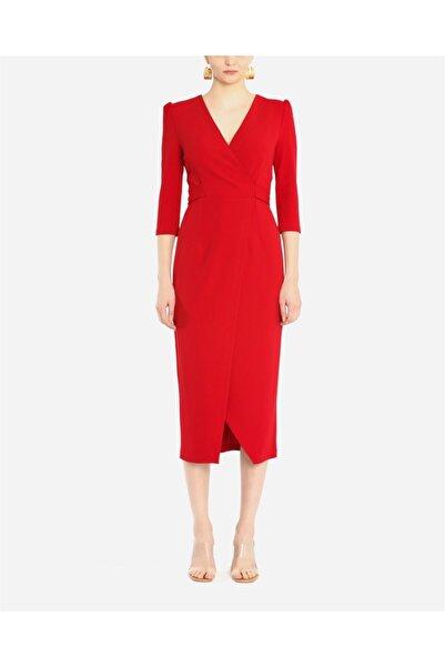 AYHAN Ahn 61246 Midi Boy Elbise-kırmızı