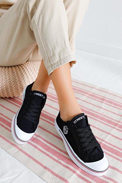 Street-Art Siyah Kadın Sneaker Dp23-0203