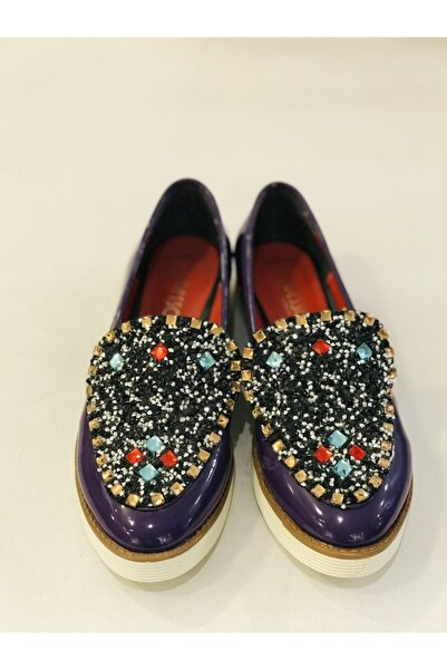 Modesa Kadın Mor Rugan Ayakkabı