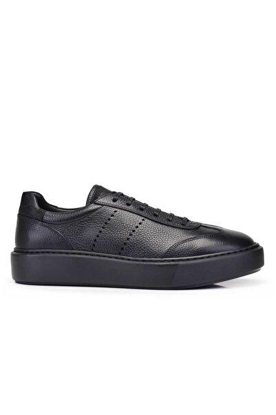 Nevzat Onay Hakiki Deri Siyah Sneaker Erkek Ayakkabı -11746-