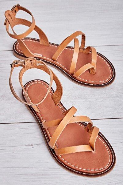 Bambi Taba Kadın Sandalet L0602809503
