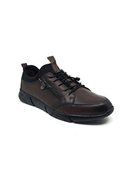 Salih %100 Deri Erkek Rahat Günlük Streçli Bağsız Mevsimlik Ayakkabı