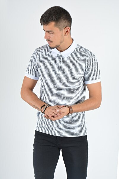 Terapi Men Erkek Polo Yaka T-shirt 20y-3400694 Beyaz