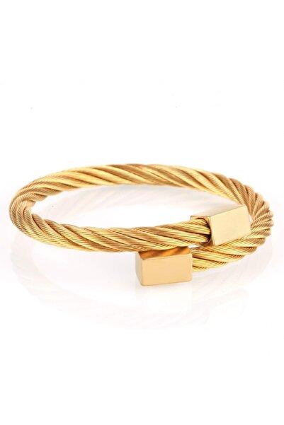 WATCHOFROYAL Rectangle Gold Tıtanıum Çelik Bileklik