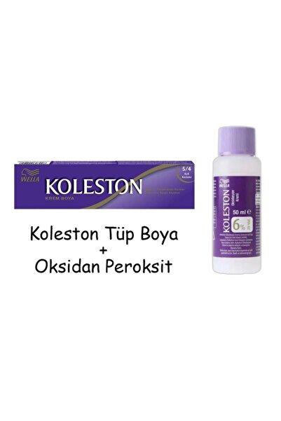 Koleston Tüp Boya 50 ml - 5.4 Açık Kestane + 20 Vol Oksidan Peroksit