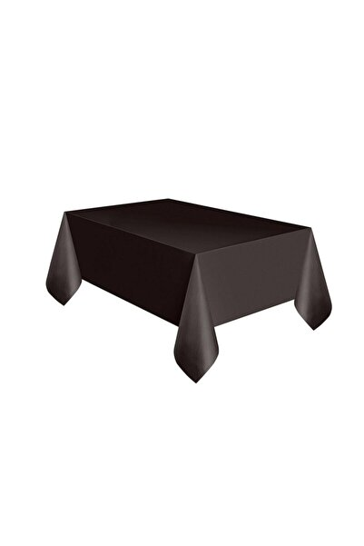 DENİZ Masa Örtüsü Düz Plastik Kullanat 1.20 Cm * 1.80 Cm Siyah
