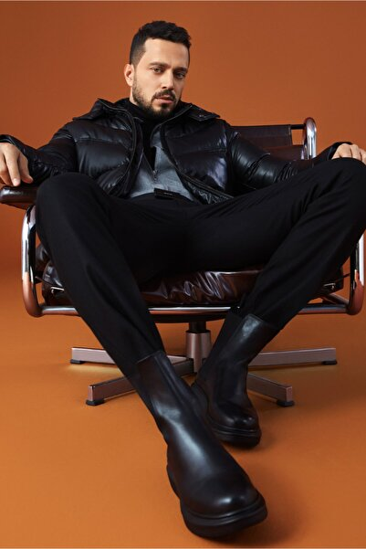 Avva Erkek Siyah Kargo Cepli Slim Fit Pantolon A02y3051