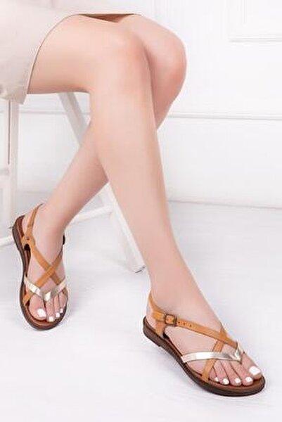Hakiki Deri Havana Kadın Deri Sandalet DP-0071
