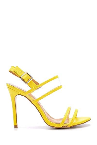 Derimod Kadın Şeffaf Bantlı Topuklu Sandalet