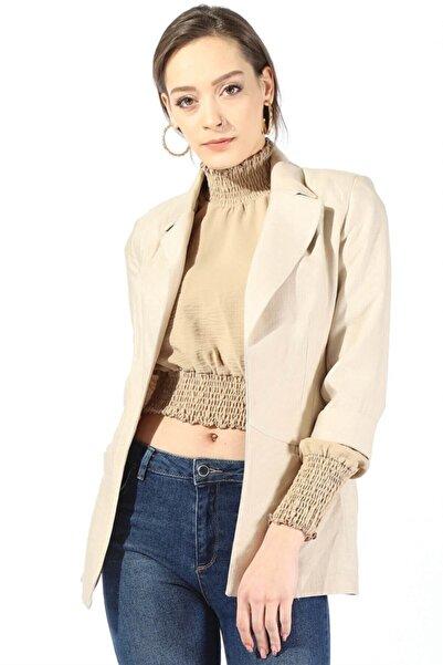 Twister Jeans Kadın 55228 Cepli Bayan Ceket Taş