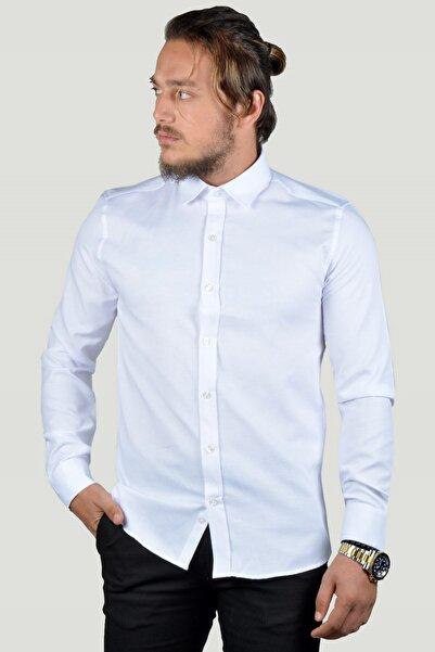 Terapi Men Erkek Gömlek 8y-37584-001 Beyaz