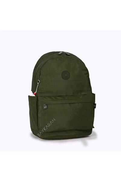 SMART BAGS 1219 Büyük Boy Krinkıl Kumaş Sırt Çantası K Yeşil