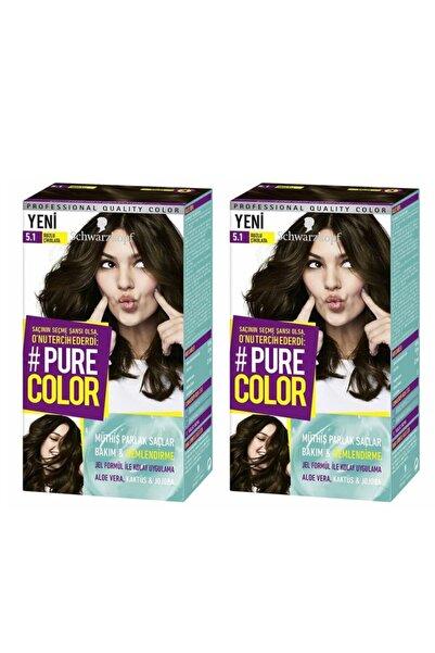 SCHWARZKOPF HAIR MASCARA Schwarzkopf Pure Color Buzlu Çikolata 5.1 X2
