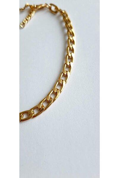 X-Lady Accessories Yassı Zincir Halhal Altın Kaplama