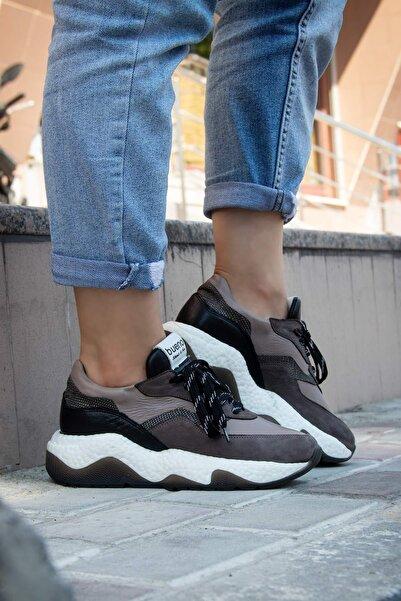 BUENO Shoes Hakiki Deri Bağcık Detaylı Kadın Spor Ayakkabı 20wr7400