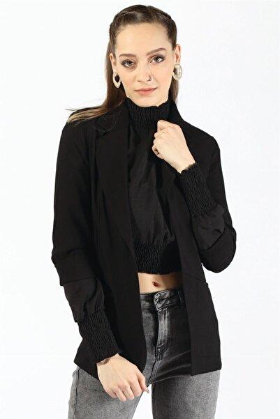 Twister Jeans Kadın 55228 Cepli Bayan Ceket Sıyah