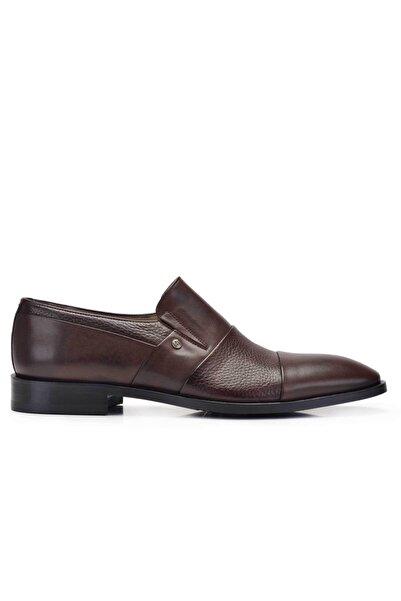 Nevzat Onay Hakiki Deri Kahverengi Günlük Loafer Erkek Ayakkabı -11703-