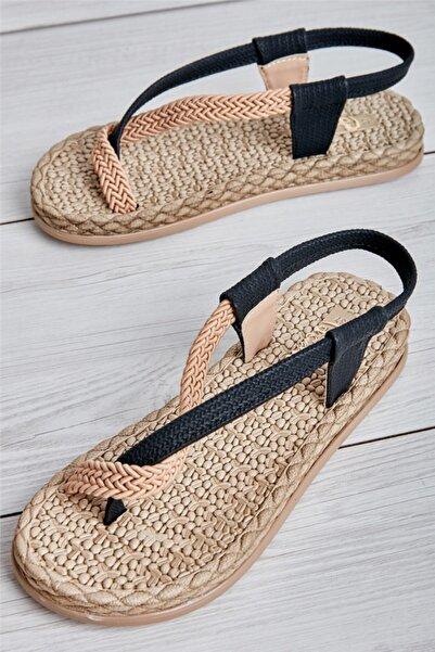Bambi Sıyah Kadın Sandalet L0823130016