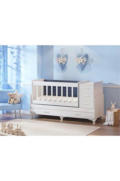 temosan mobilya 5 Çekmeceli Beşik-büyüyen Beşik-sallanan Ve Sabitlenebilen Beşik
