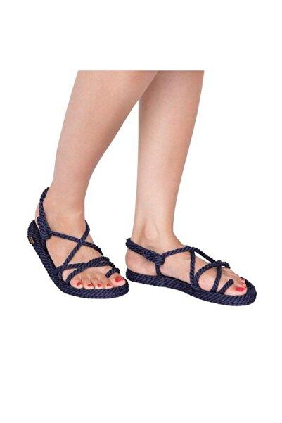 Nomadic Republic Ibiza Kadın Halat & Ip Lacivert Sandalet