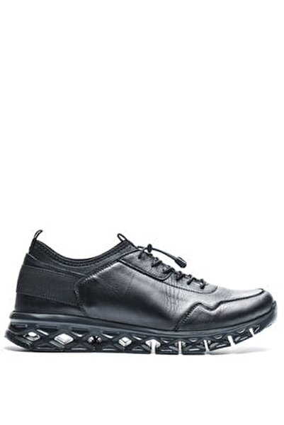 210059 Sıyah Erkek Deri Ayakkabı