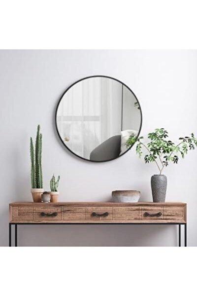 EFFE Siyah Metal Çerçeveli Yuvarlak Ayna 70cm
