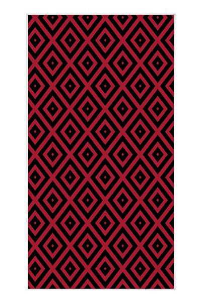 EXCLUSIVE Saray Dijital Halı Sarah Geometrik Siyah Kırmızı