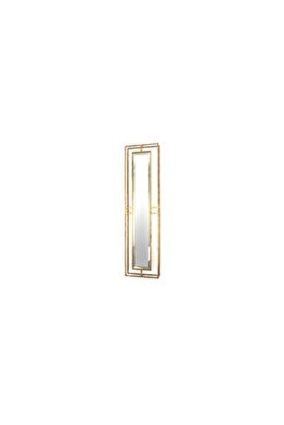 Antik Gold Metal Dikdörtgen Ayna 20x76cm