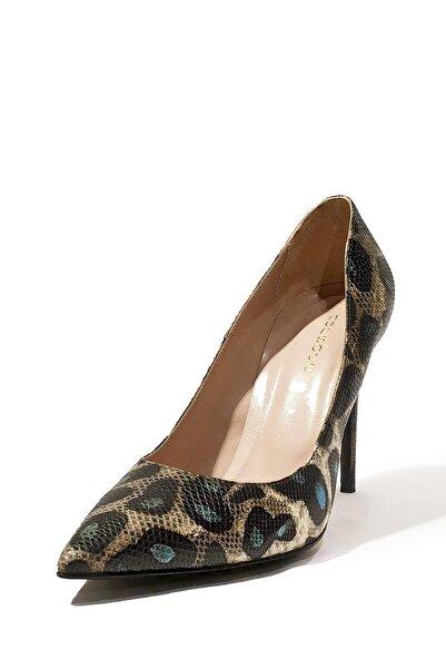 Nursace Hakiki Deri Klasik Topuklu Ayakkabı Nsc16y-a41903