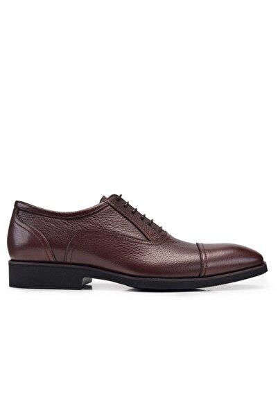 Nevzat Onay Hakiki Deri Kahverengi Günlük Bağcıklı Erkek Ayakkabı -11335-