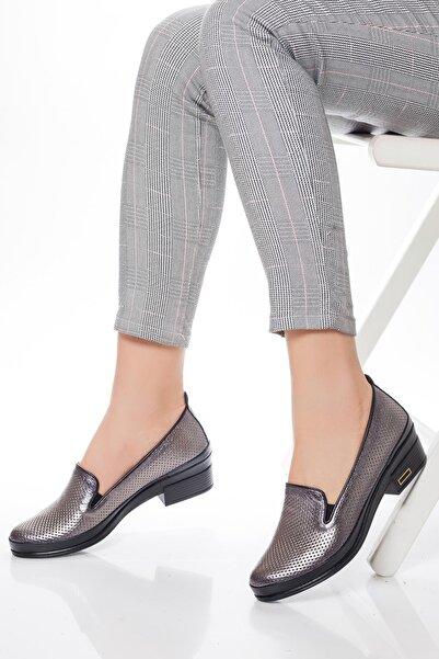 Deripabuc Kadın Platin Hakiki Deri Casual Ayakkabı DP15-0062