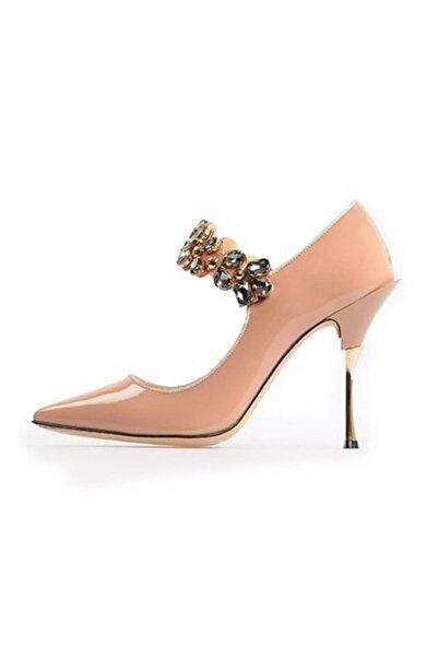 Flower Vizon Taşlı Abiye Ayakkabı