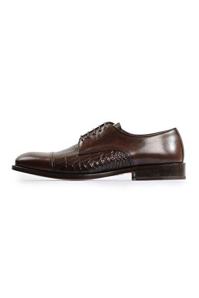 Flower Kahverengi Kroko Klasik Ayakkabı