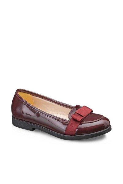 Vicco Fiyonklu Kız Babet Rugan Ayakkabı Bordo